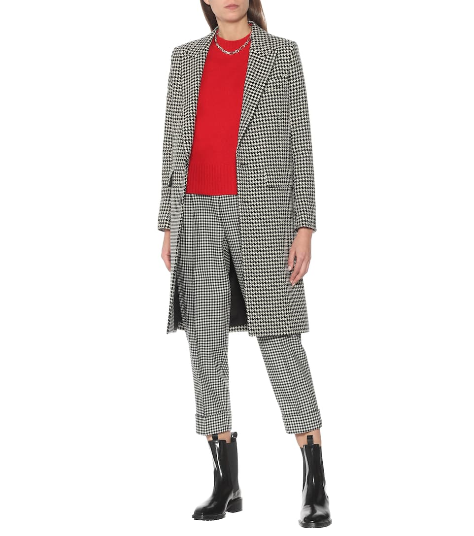 Wool Blend Houndstooth Coat