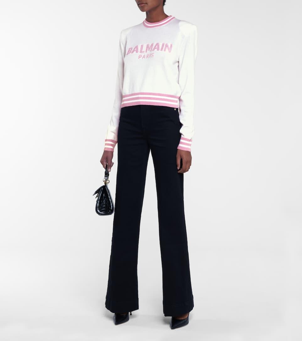 Balmain Logo wool blend sweater | Mytheresa