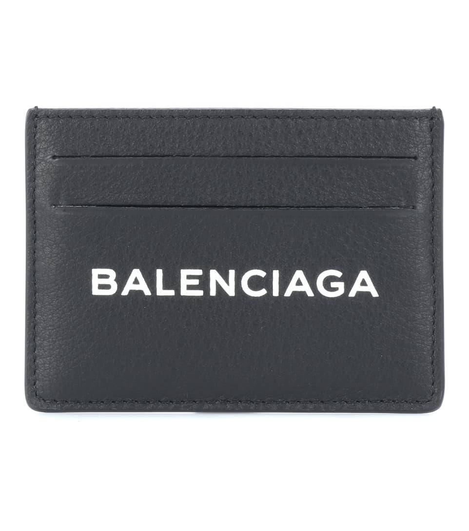 Porte-Cartes En Cuir Imprimé - Balenciaga