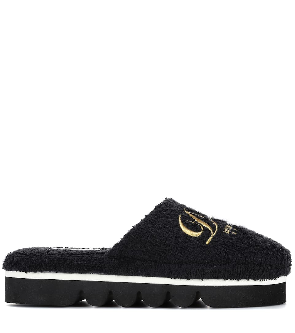 Dolce & Gabbana Slippers aus Frottee