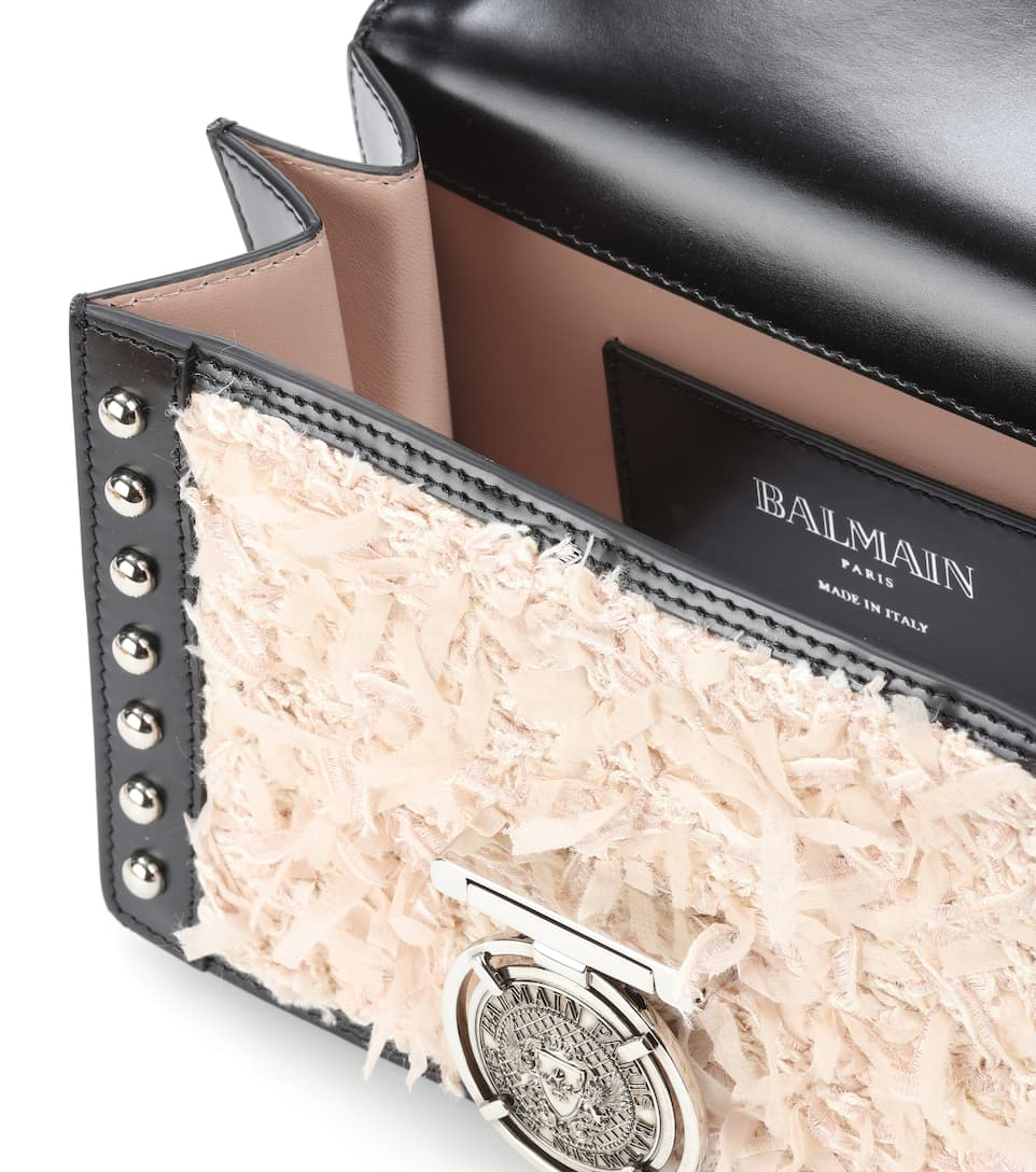 Balmain Verzierte Schultertasche BBox 25 aus Leder