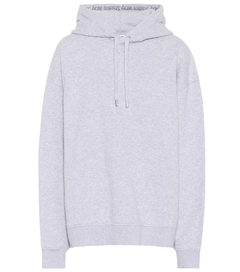 Yala As Hooded Logo Rib Sweatshirt in Grey