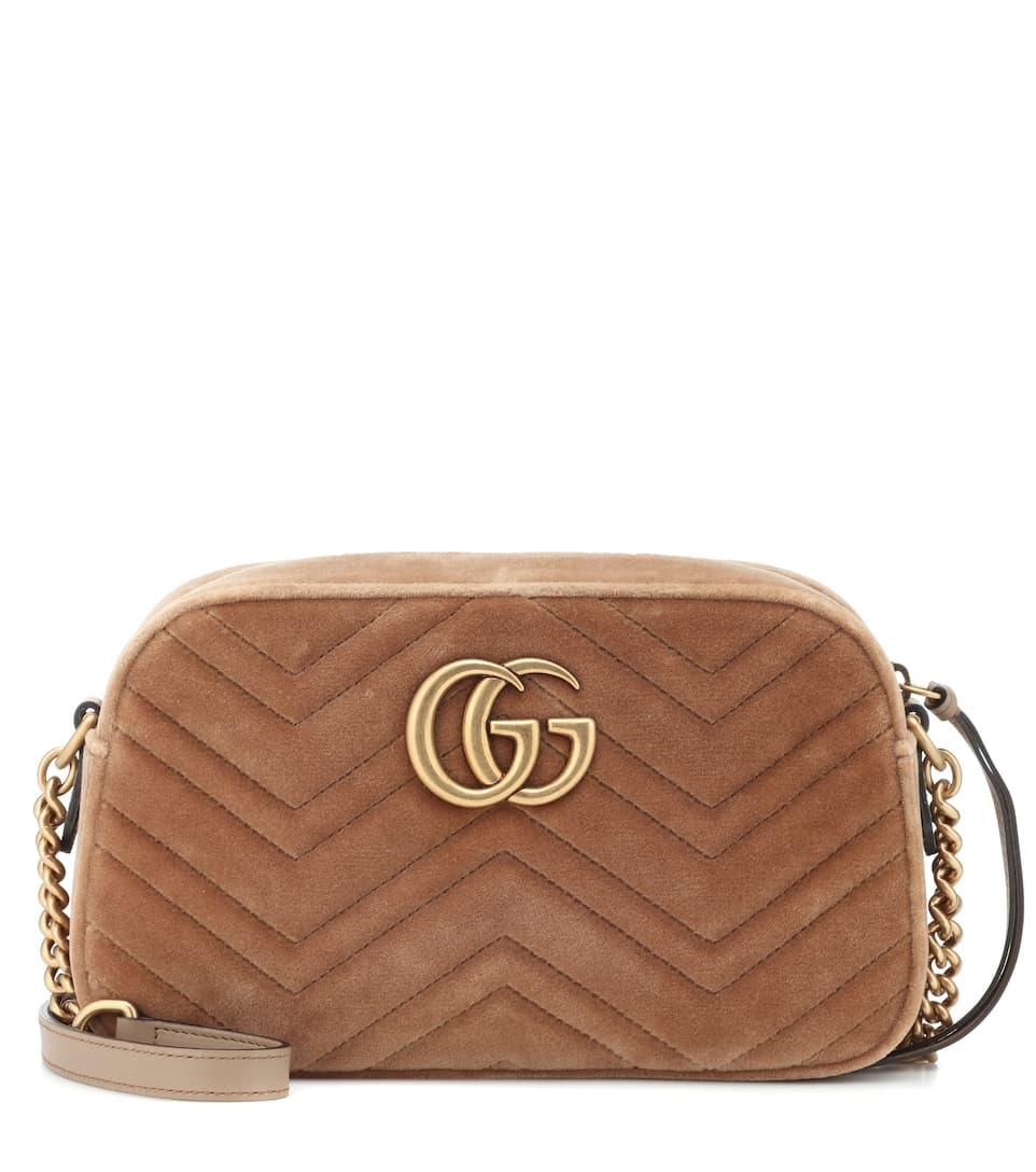 fc9db72a8b29 Gg Marmont Small Velvet Shoulder Bag - Gucci | mytheresa