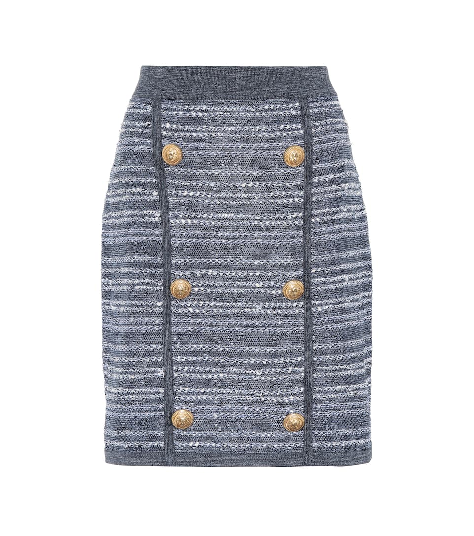 Balmain High-rise Mini Skirt Made Of Twill