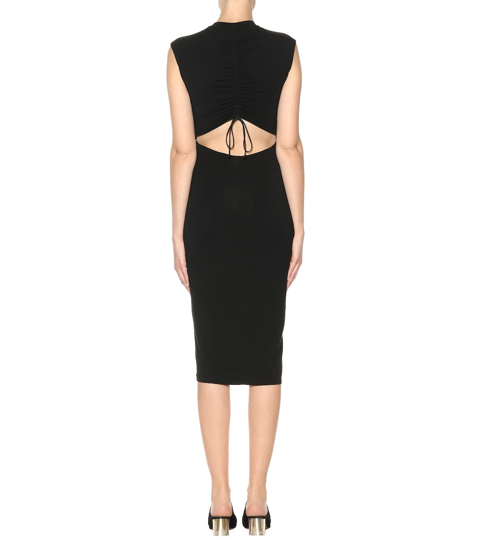 T by Alexander Wang Midikleid aus Stretch-Jersey mit Cut-outs