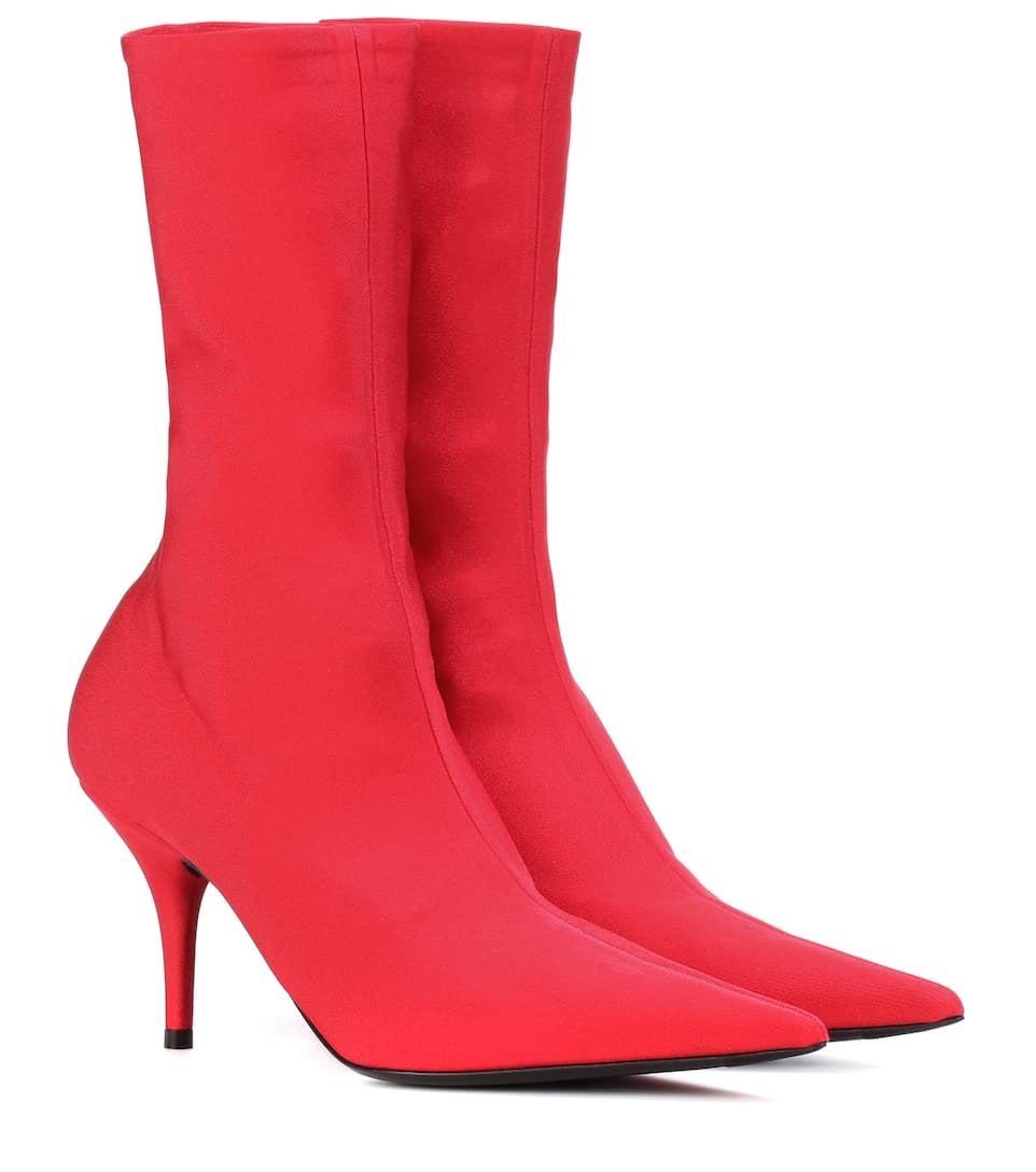 Balenciaga Ankle Boots Knife aus Stretch-Jersey
