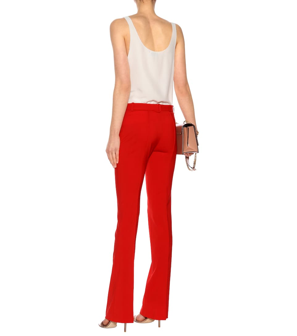 Versace Flared Hose aus Stretch-Wolle