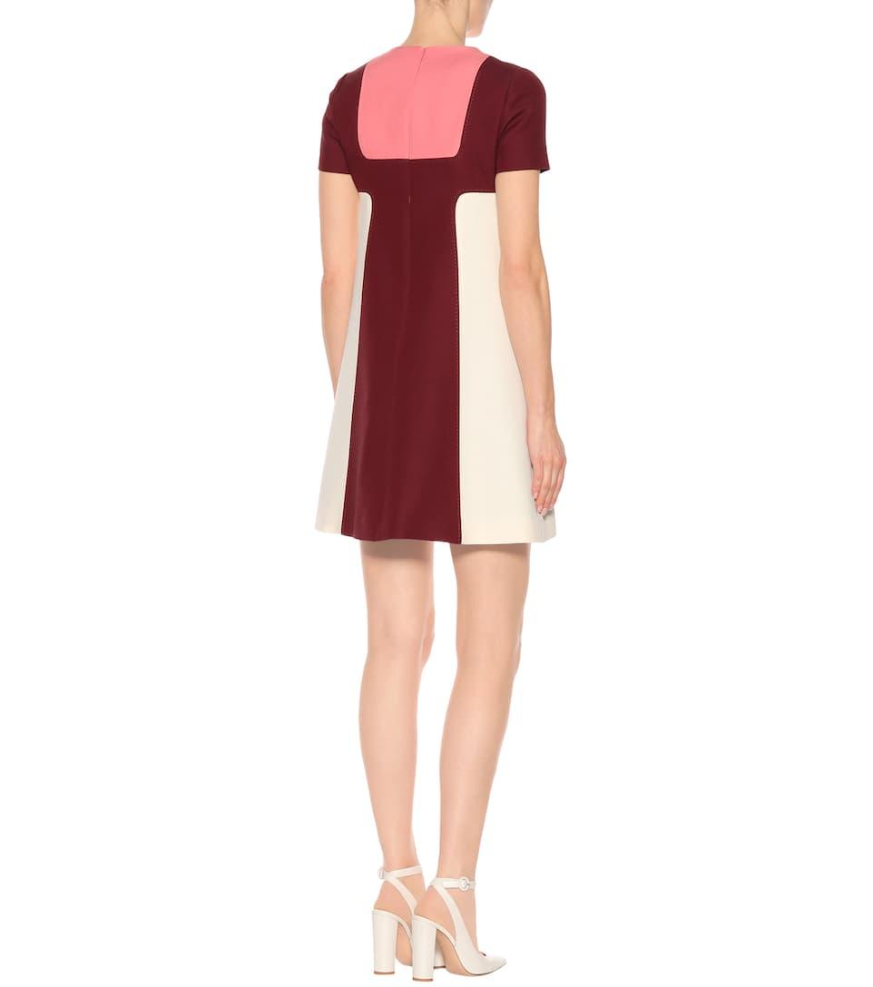 Mini-robe Valentino En Soie Et Laine Vierge