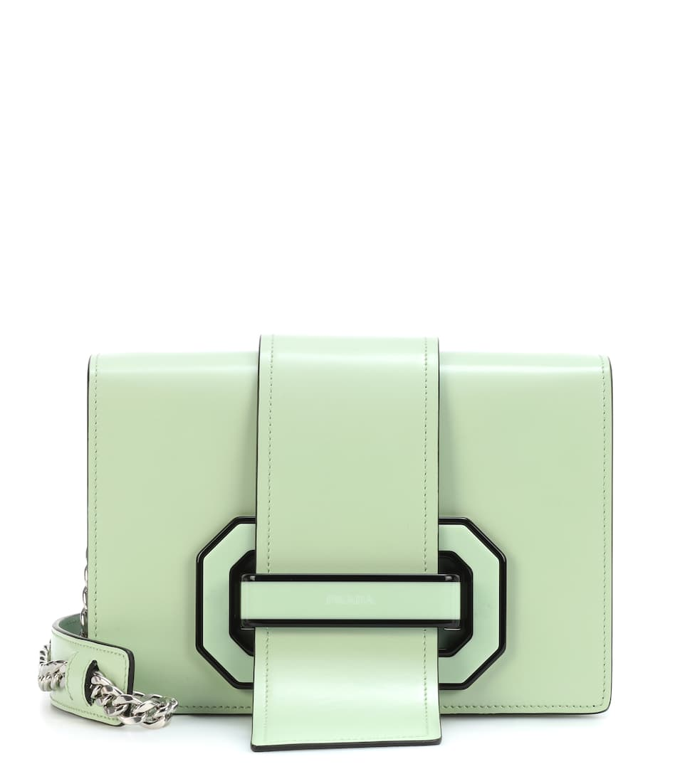 Prada Schultertasche Plexi Ribbon aus Leder Billige Neueste dqV8H