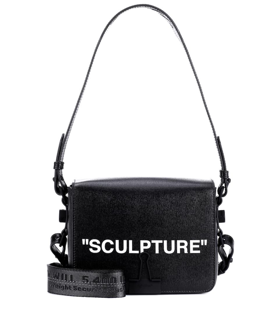 """""""SCULPTURE"""" SHOULDER BAG WITH BINDER CLIP"""