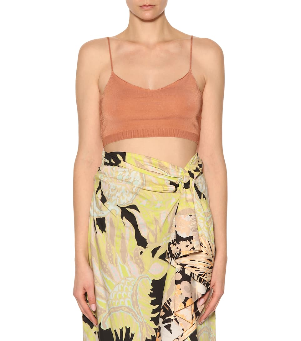 Dries Van Noten Knitted Cropped-top