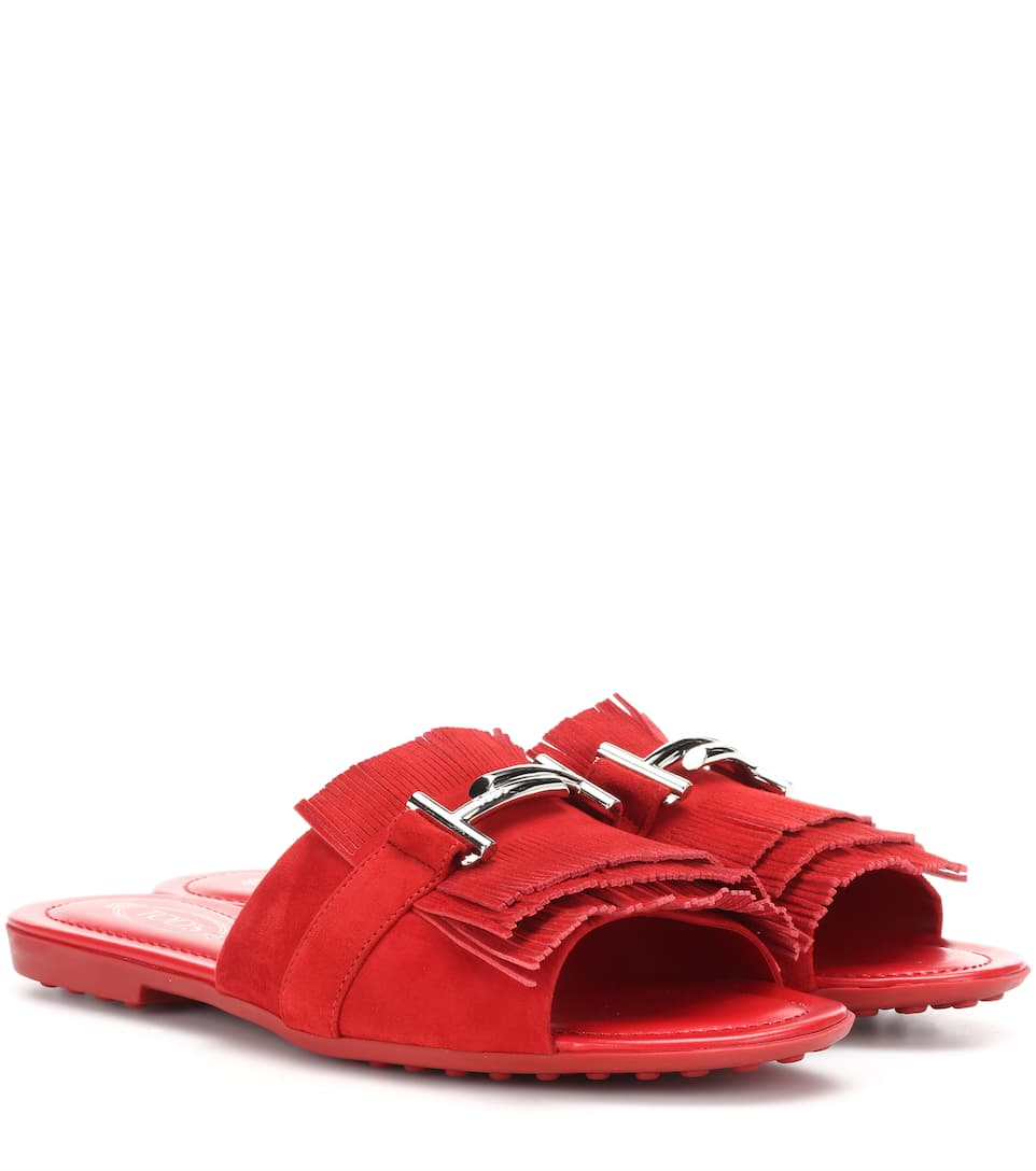 Tod s Double T suede slides