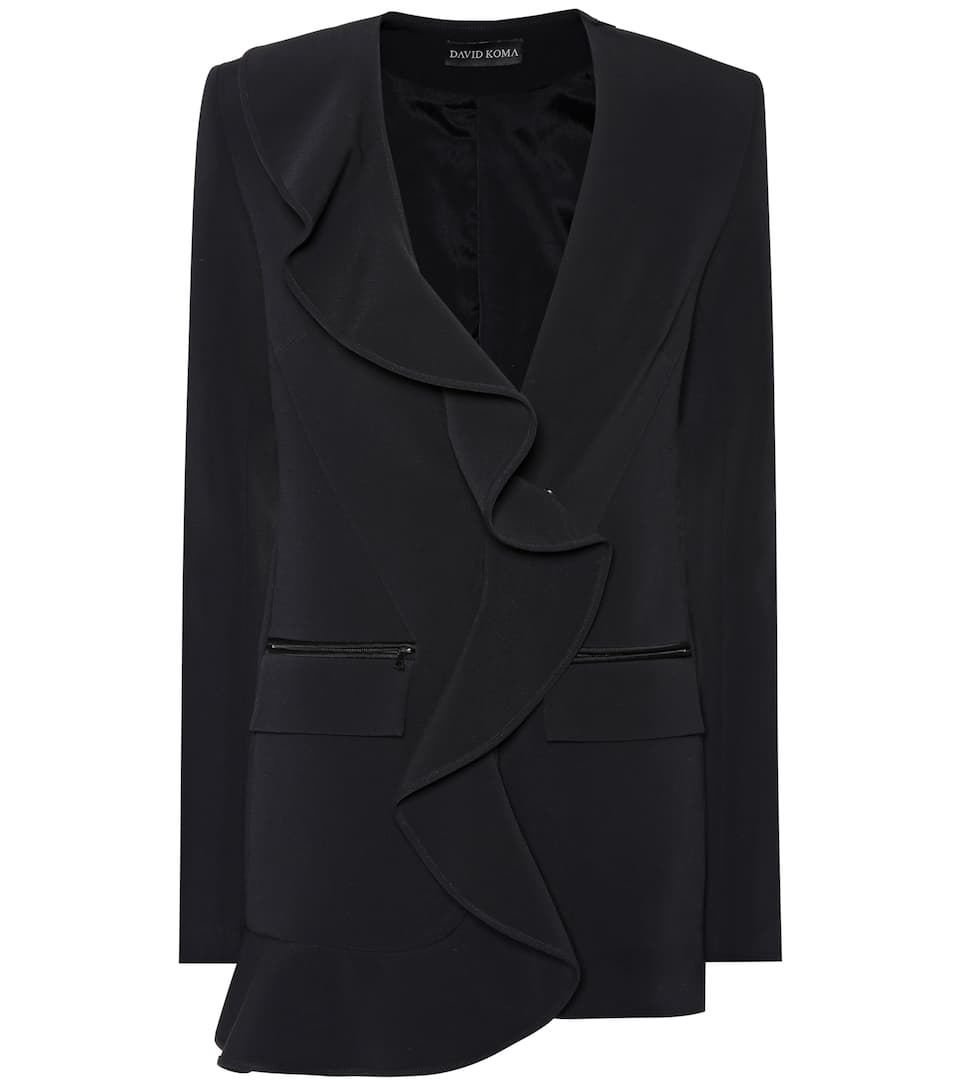 David Koma Ruffled cady blazer Black Clearance With Mastercard Outlet Best Sale pFyP5E
