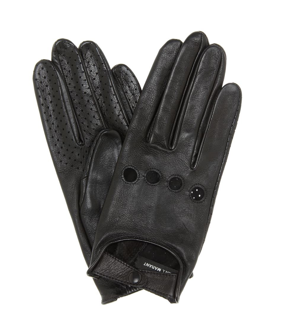 Roady Leather Gloves by Isabel Marant