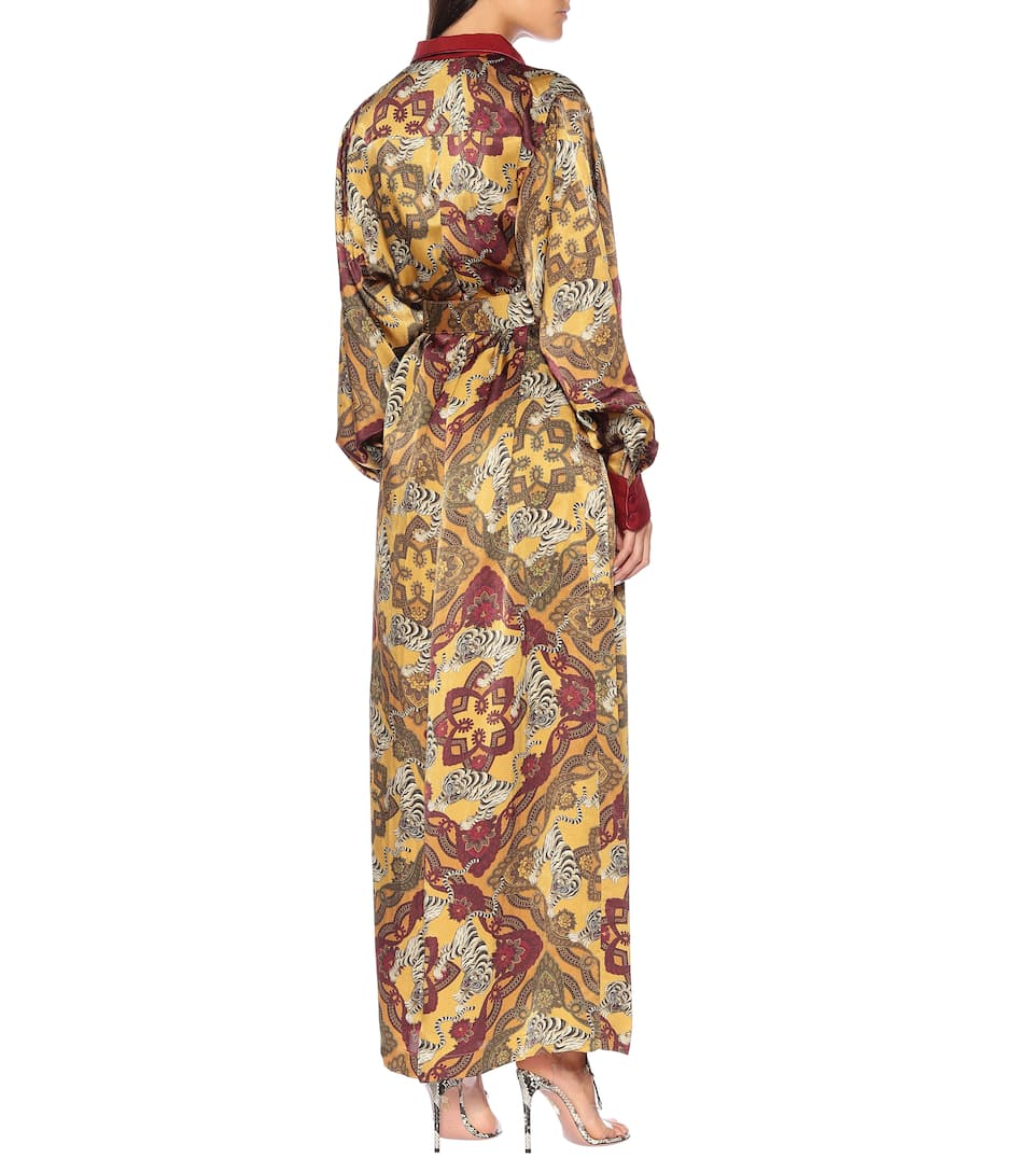 r Artnbsp;p00408772 cloqué N° Restless Febo s For Printed Satin Shirt DressF Sleepers xdCBoe