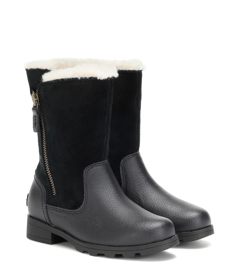 Markenqualität jetzt kaufen großer Verkauf Gefütterte Stiefel Emelie aus Leder