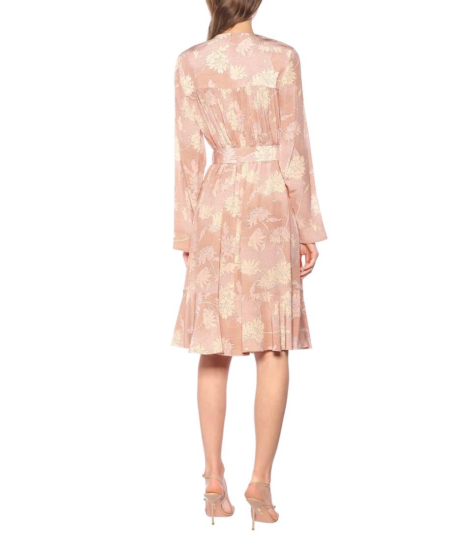 Floral Silk-Satin Dress | Chloé - Mytheresa