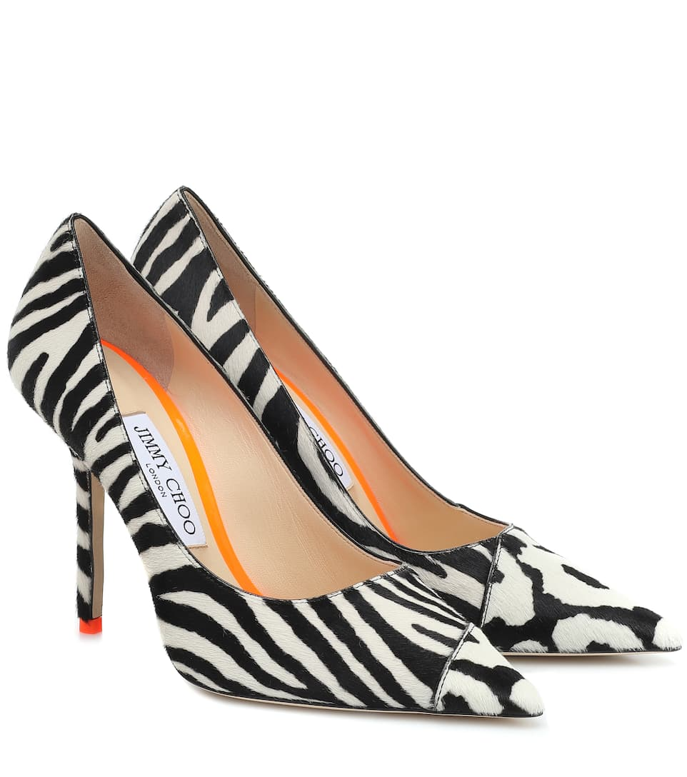 Love 100 Zebra-Print Calf-Hair Pumps | Jimmy Choo - Mytheresa