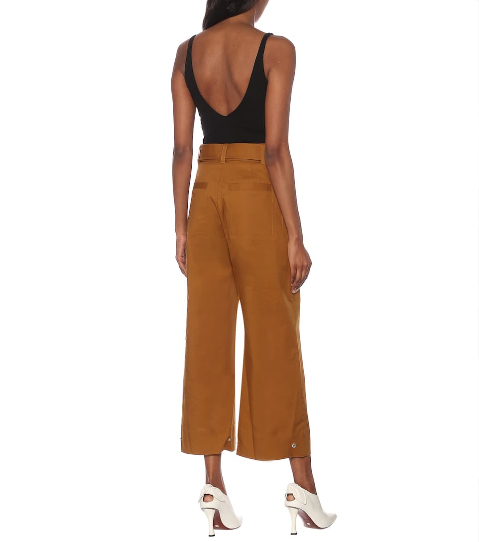 Proenza Schouler - High-rise tapered cotton pants
