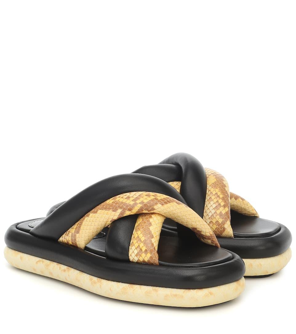 Leather Platform Sandals   Proenza