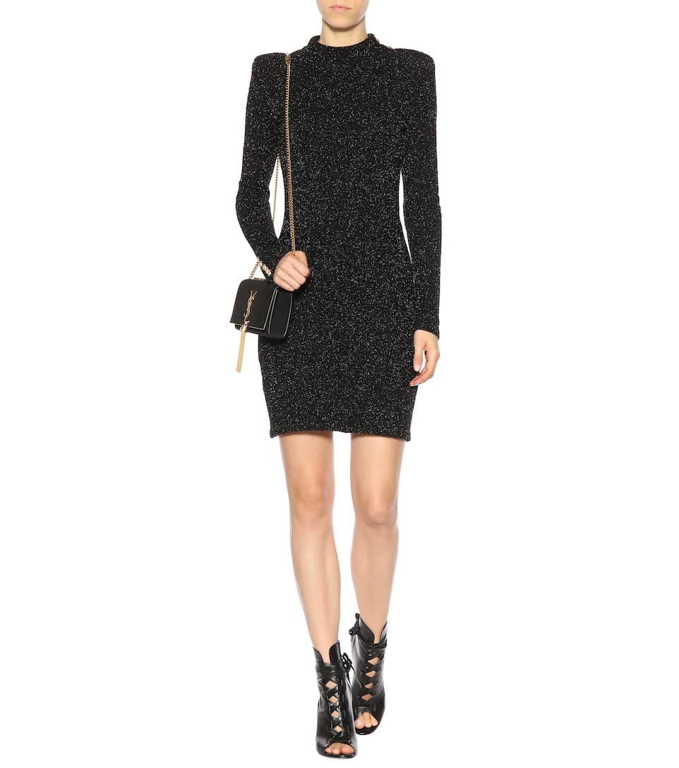 Balmain Knitted minidress Black Cheap Sale 2018 Newest Discount Sast Cheap Sale Very Cheap For Sale Online Store For Sale Online ODpe7LI