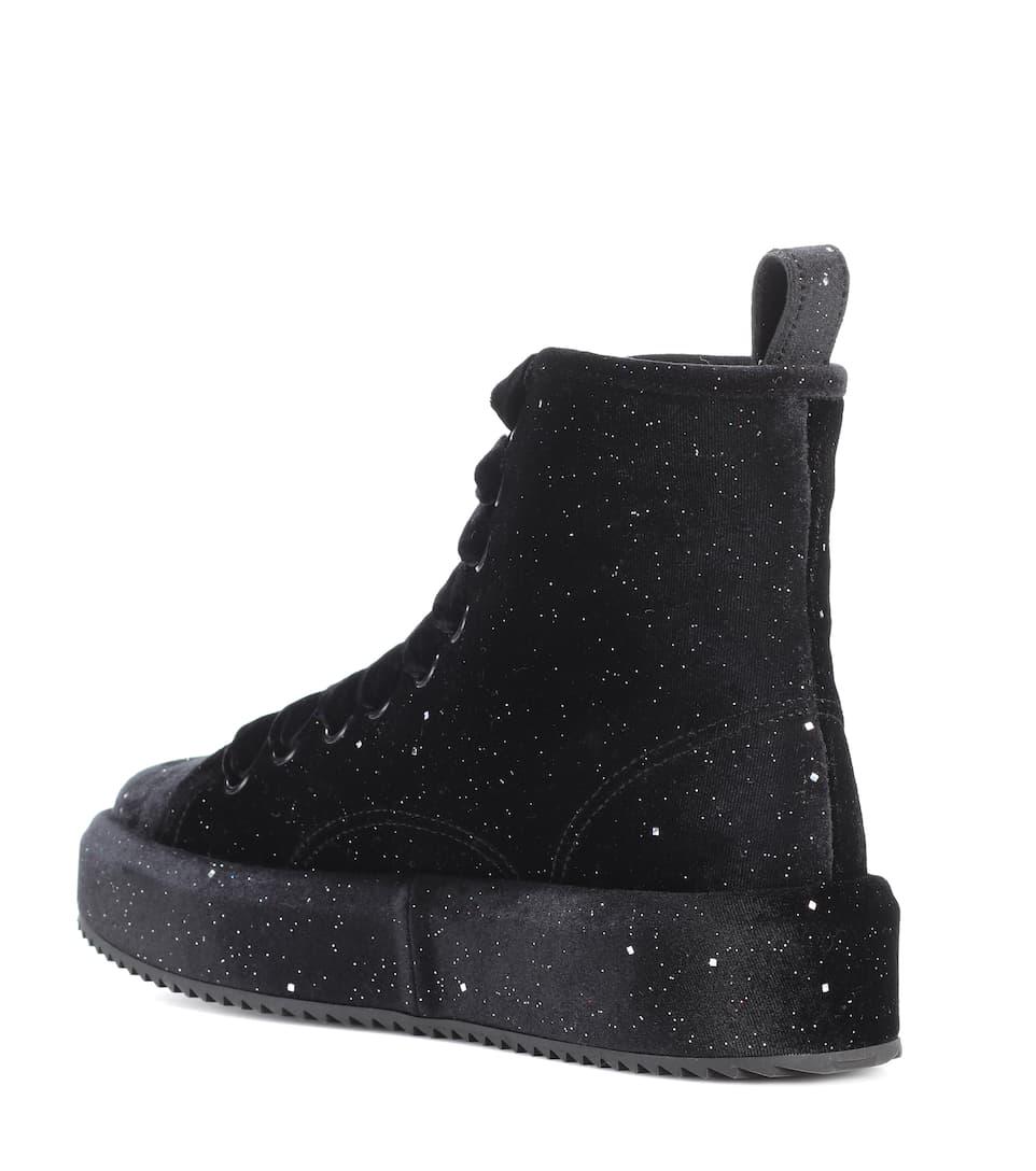 Velvet high-top sneakers Marco De Vincenzo QvOGJxJBR