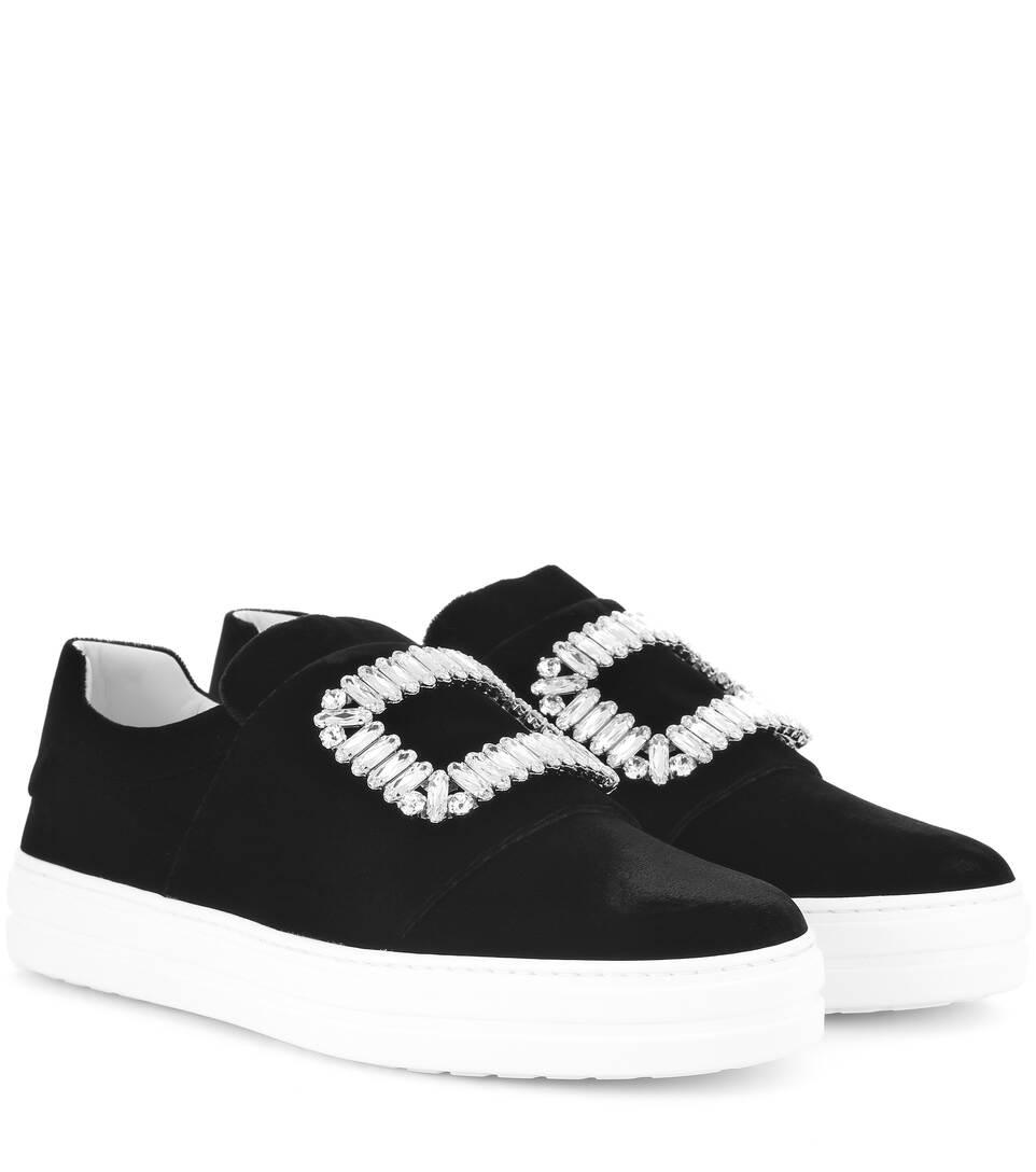 Roger Vivier Sneaky Viv' embellished velvet sneakers LI9JLF