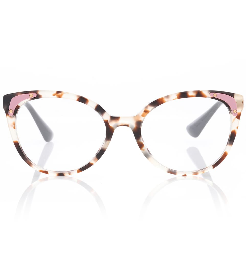 c4c9eef9b Tortoiseshell Cat-Eye Glasses - Prada | mytheresa