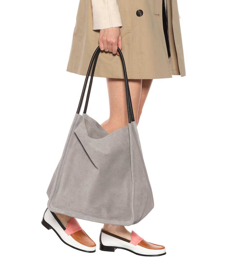 Proenza Schouler Extra large suede tote Dark Taupe Free Shipping Buy Clearance Wide Range Of GMBfpK