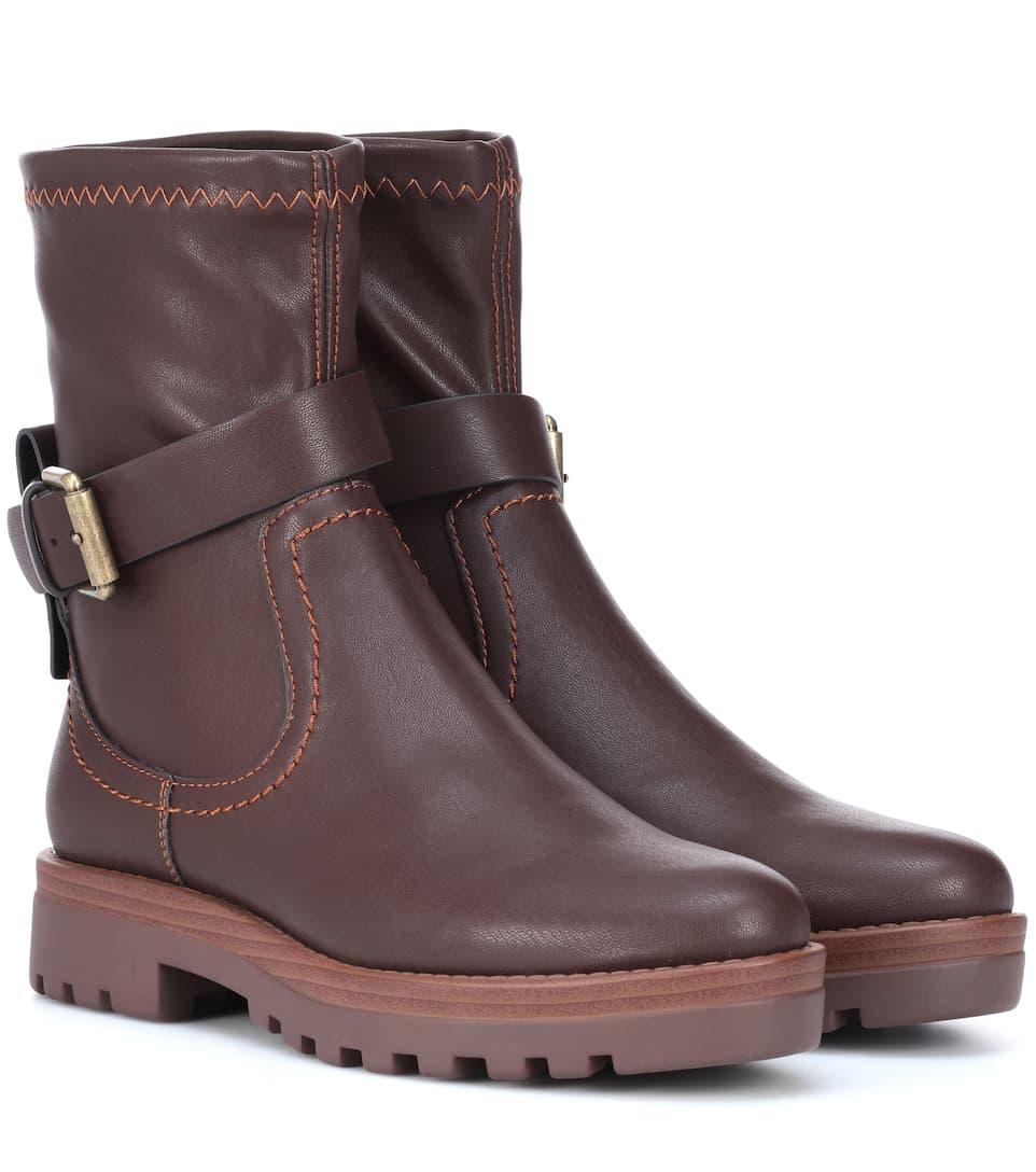 Sale Sast For Sale Sale Online Chloé Dakota faux-leather ankle boots jhvA1b