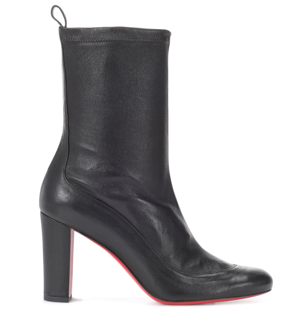 more photos 41ea2 0f3c6 Gena Bootie 85 Leather Ankle Boots - Christian Louboutin ...