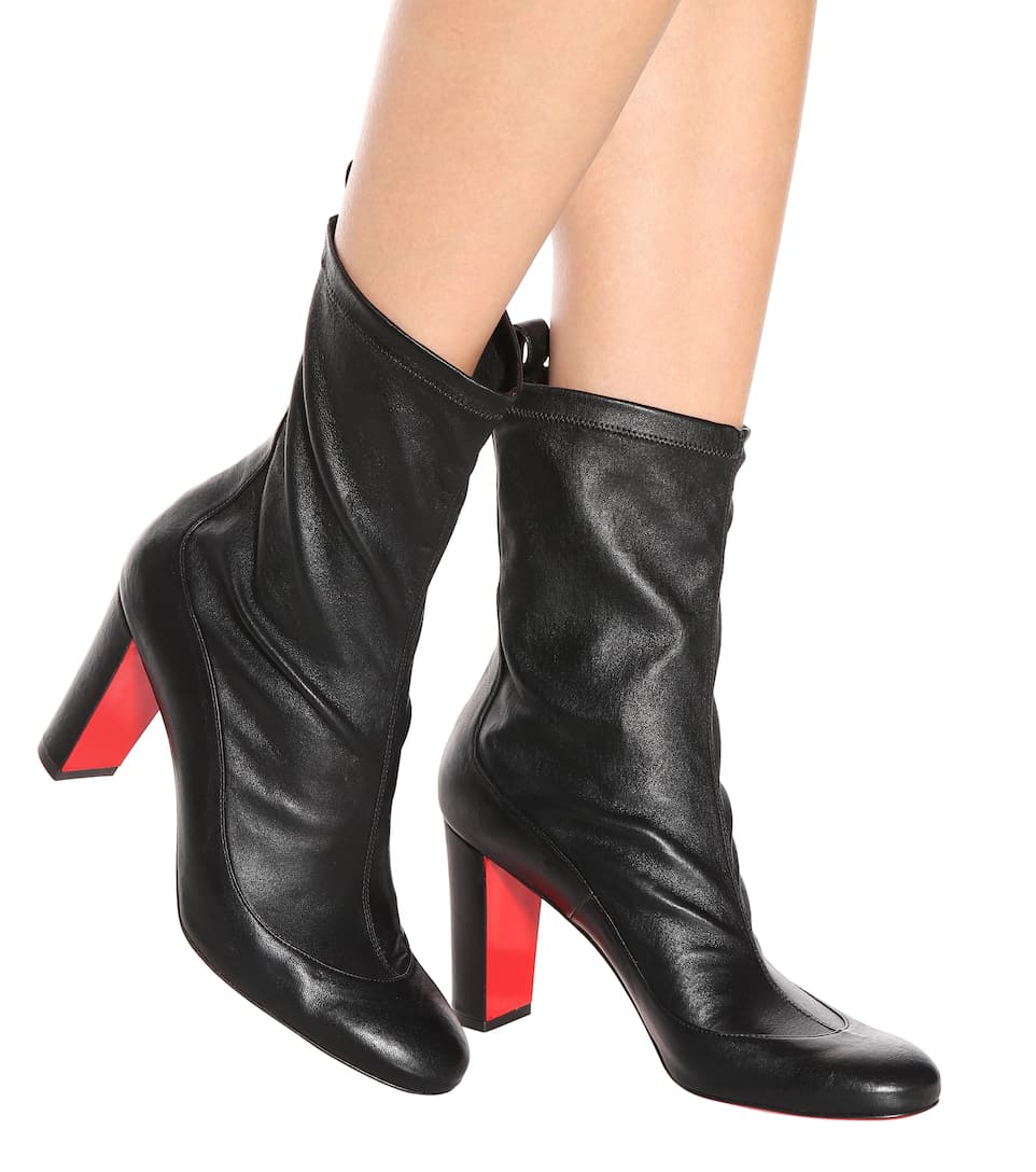 a52cd629788 Gena Bootie 85 Leather Ankle Boots - Christian Louboutin