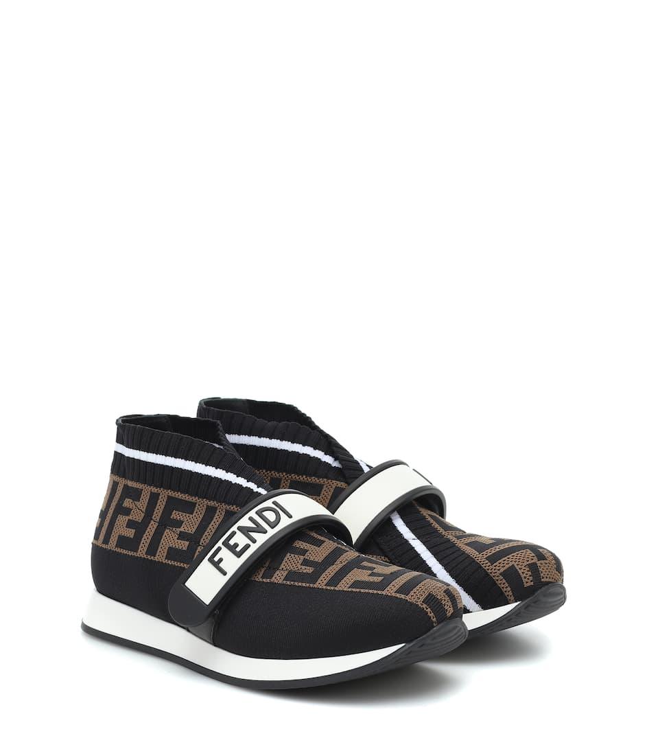 Fendi Kids - FF jacquard sneakers