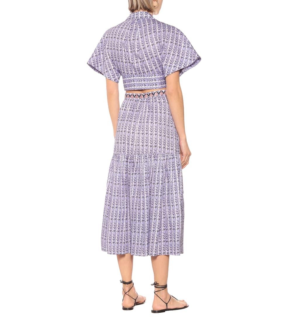 Poet High-Rise Printed Cotton Skirt | Temperley London