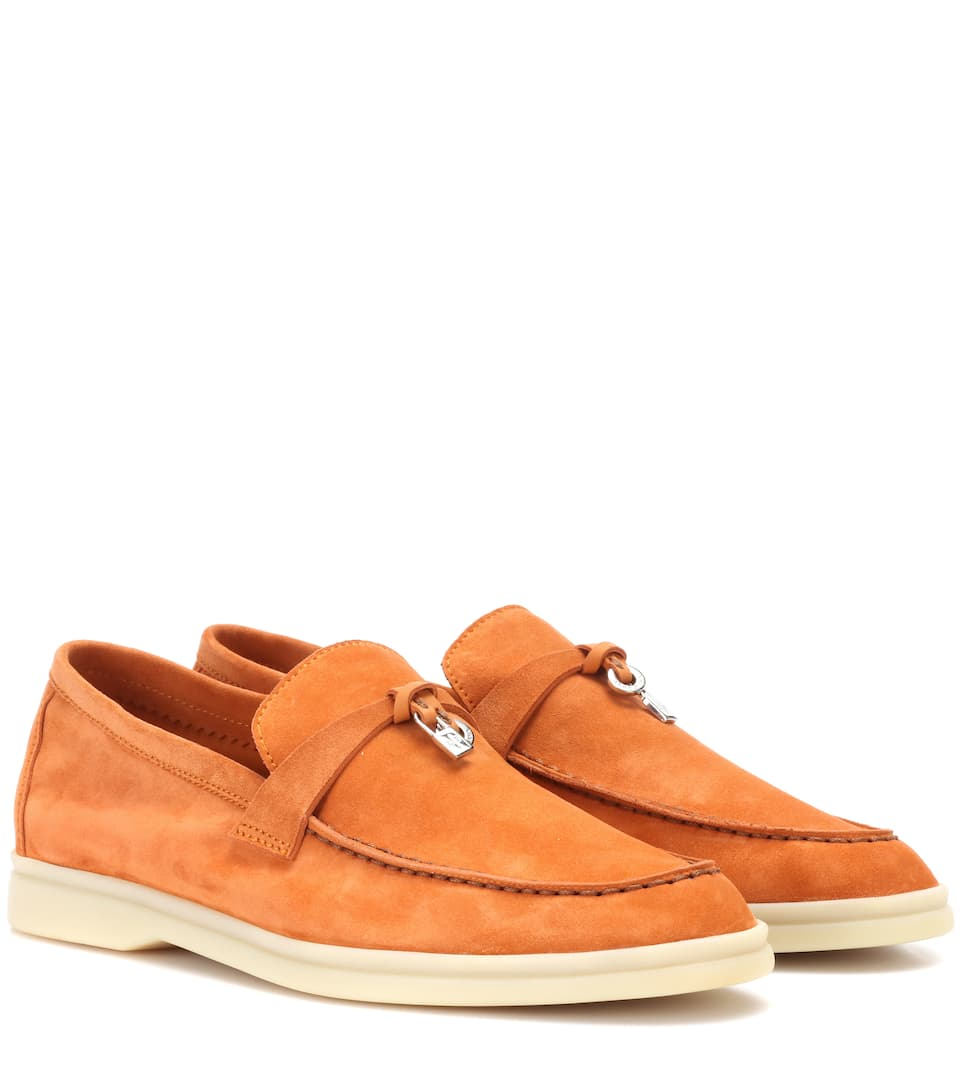 Loro Piana Loafers Summer Charms Walk aus Veloursleder