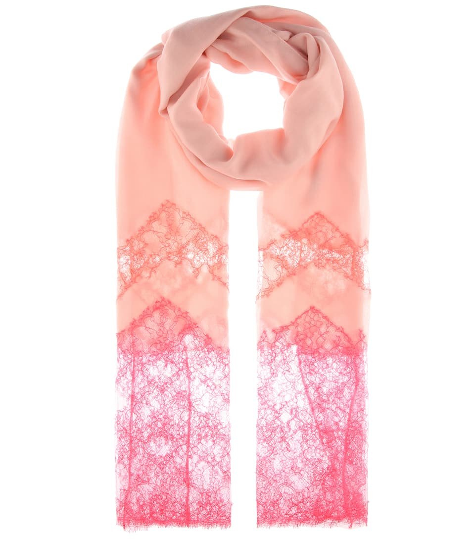 0bee7e388 Cashmere-blend and lace scarf