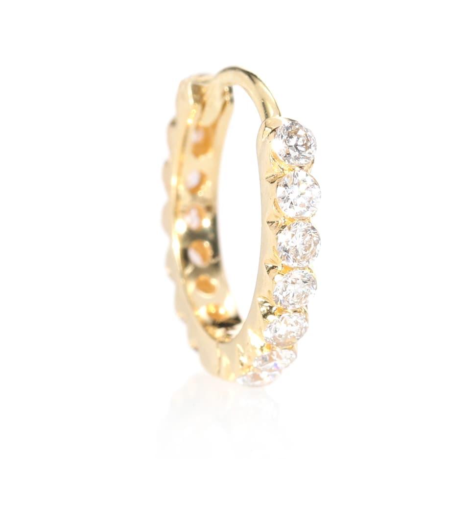 Invisible Eternity 18-karat White Gold Diamond Earring - one size Maria Tash 2lGZKRRCJf