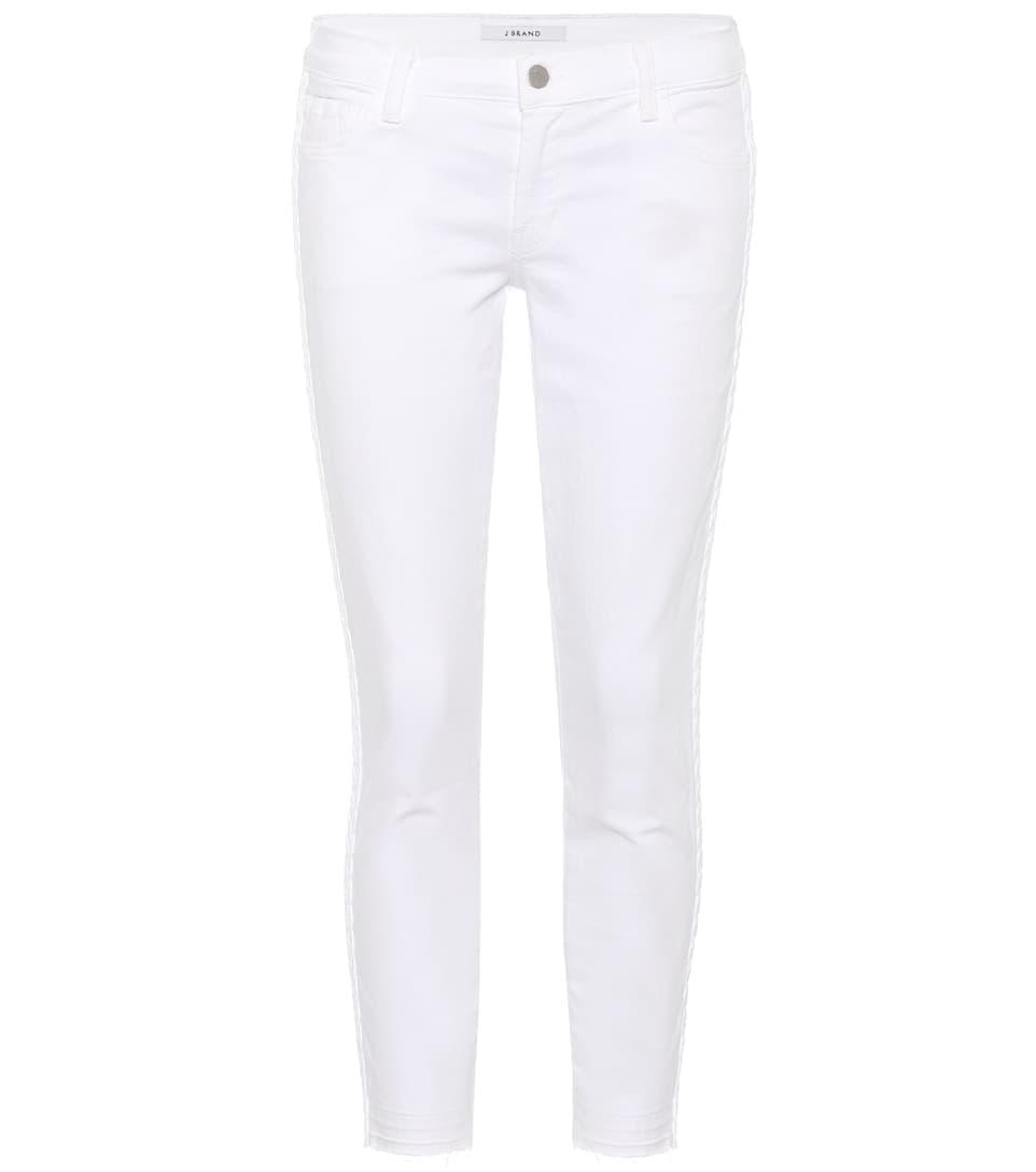 J Brand Bestickte Cropped Jeans
