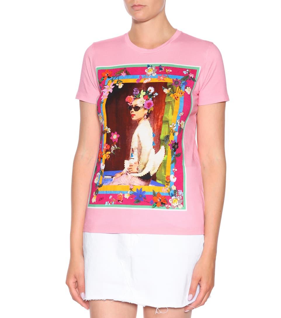 estampada algodón rosa rosa Etro Etro camiseta estampada algodón camiseta wxOr0vqRtO