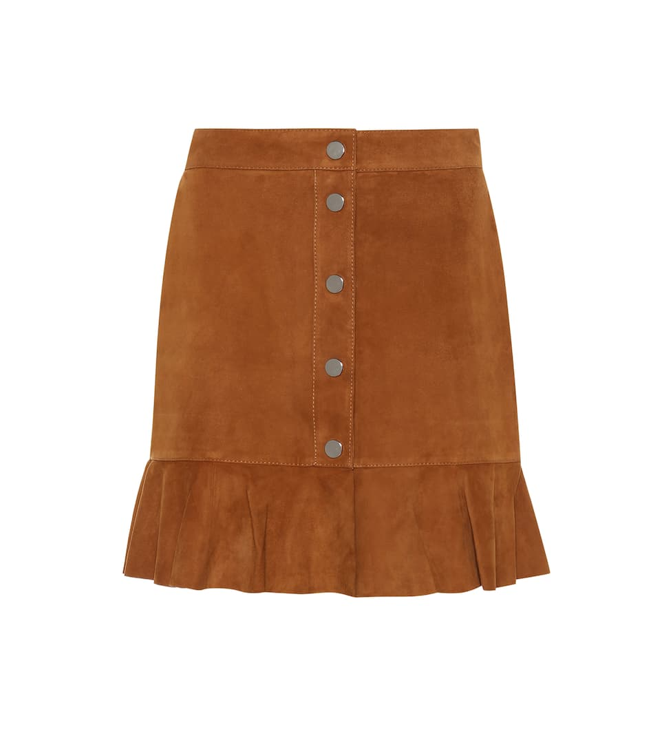 Salvia Suede Skirt by Ganni