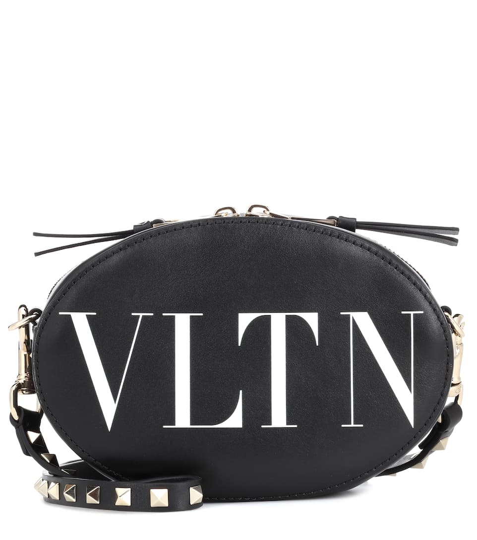 5dc5bb92b8b4 Valentino Garavani Vltn Leather Crossbody Bag - Valentino ...