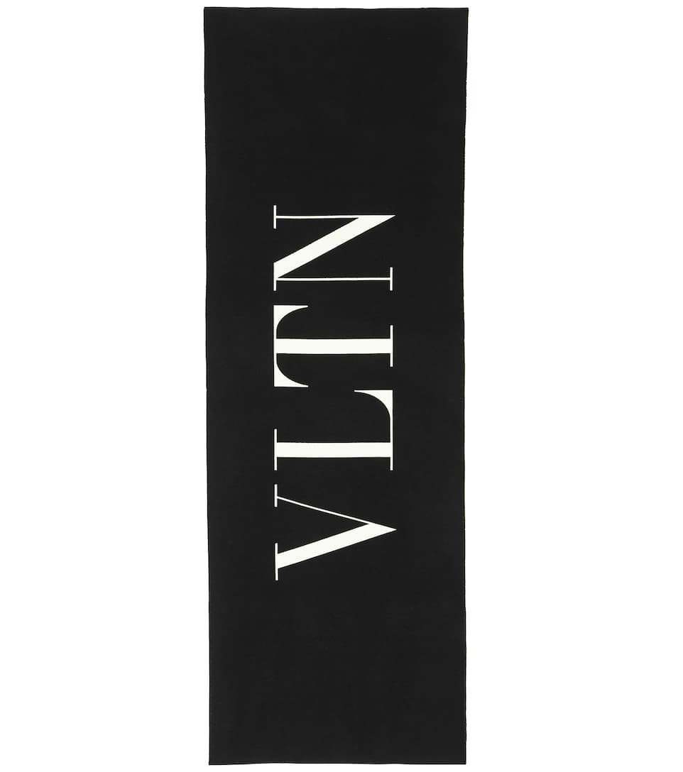 Oversized Wool And Cotton Scarf by Valentino