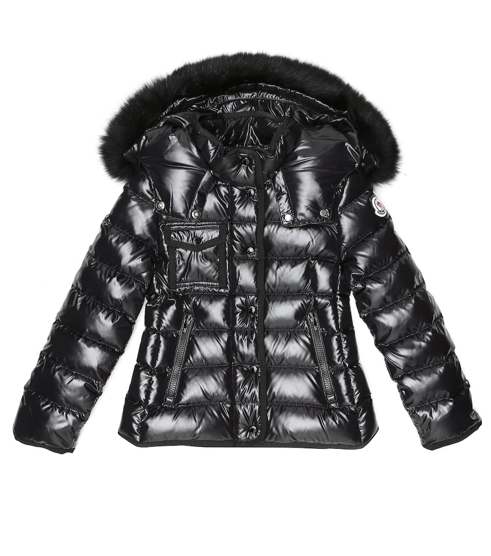 Moncler Enfant Armoise fur trimmed down coat | Mytheresa