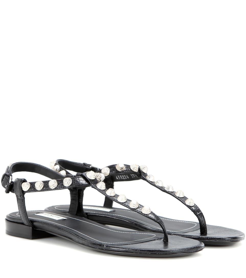 Balenciaga Arena Giant Stud leather sandals