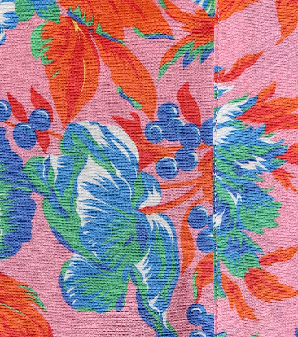 MSGM Bedruckte Bluse aus Baumwolle
