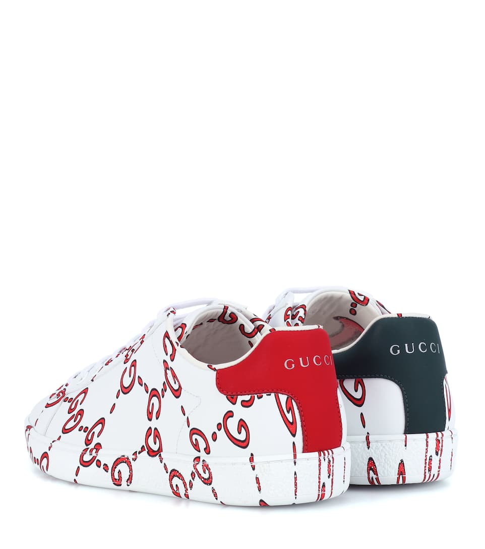Sneakers Ace in pelle a stampa GG Gucci OgCNYh