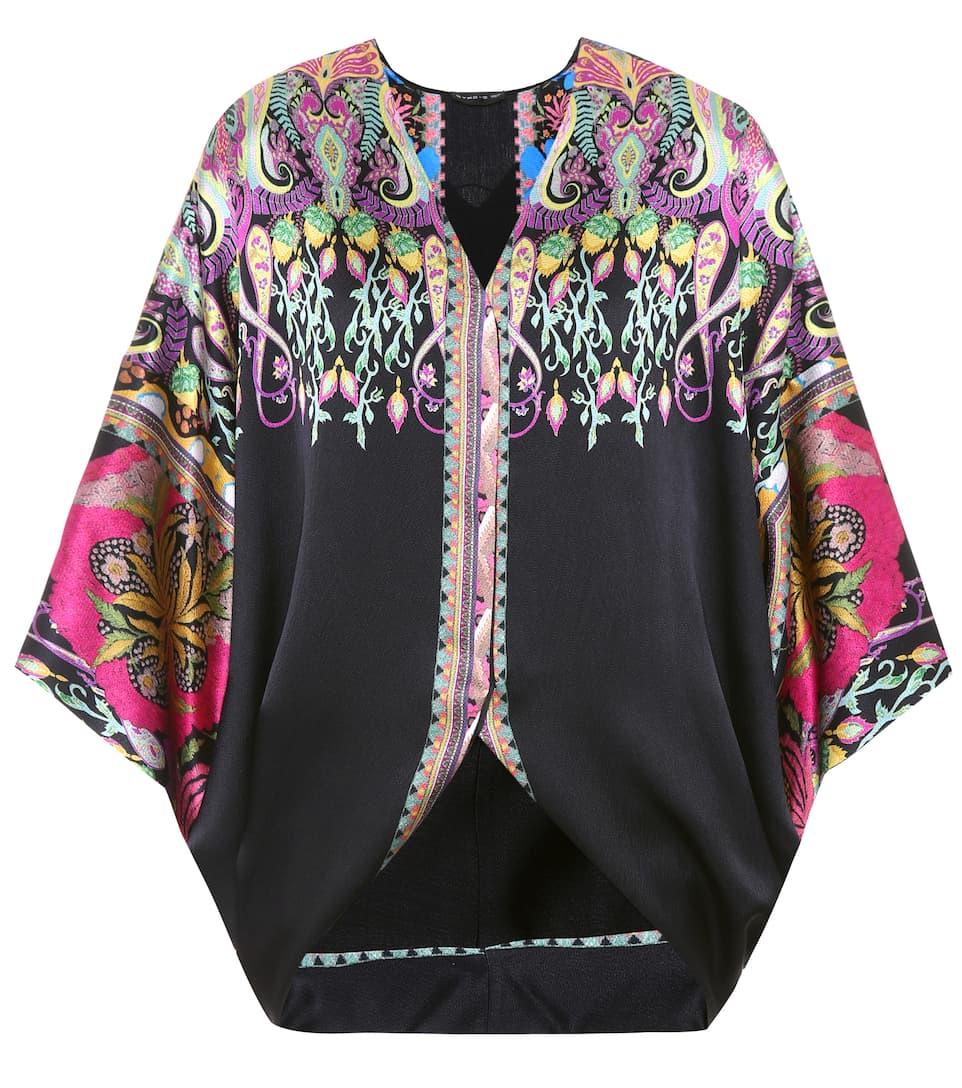 Etro Printed Top In Silk