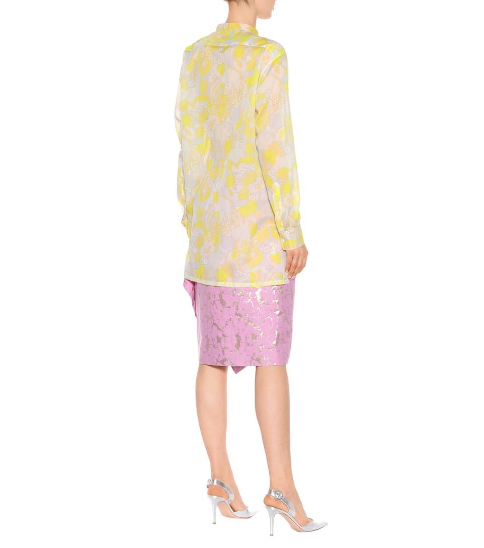 Dries Van Noten Bedruckte Bluse Calyba aus Baumwolle