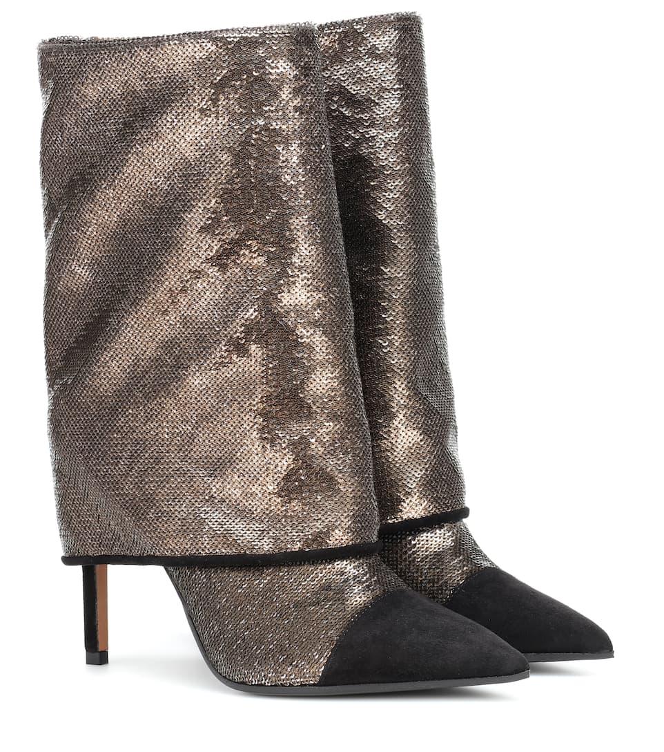 sale eastbay buy online Balmain Babette metallic velvet boots oFszD