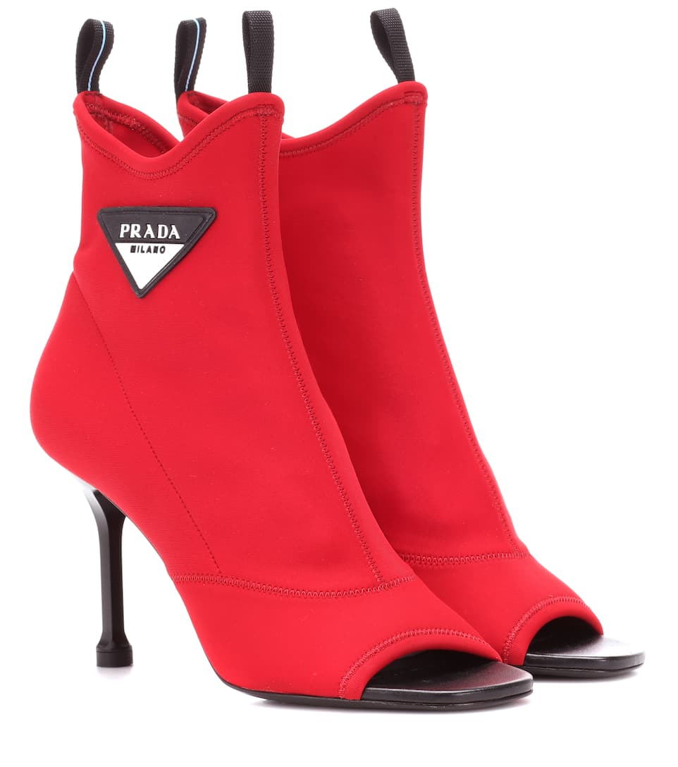 Prada Exclusive to mytheresa.com – stretch-knit ankle boots cheap sale 2014 newest P9kcB4B